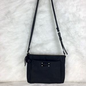 kate spade nylon crossbody w/ patent leather strap
